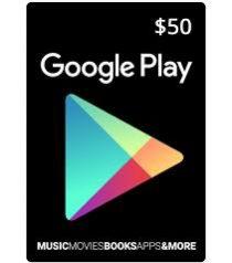 Google Play Gift Card 50$