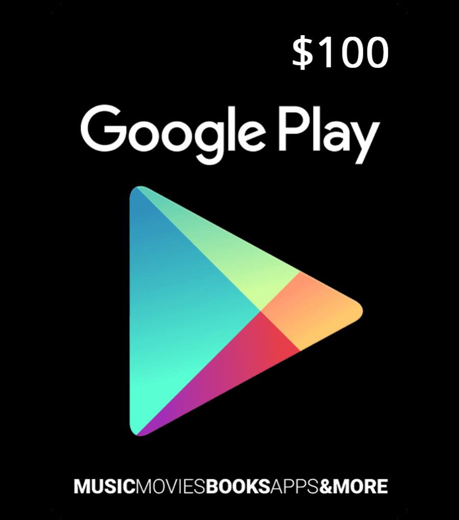 Google Play Gift Card 100$