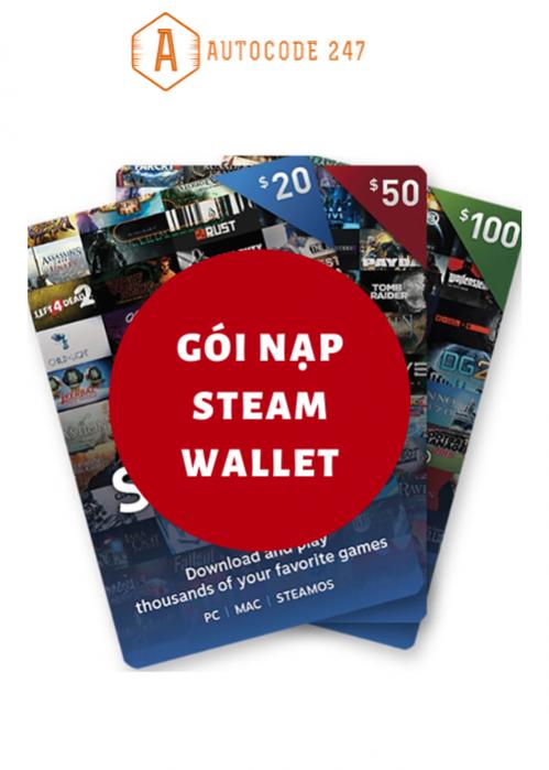 Gói nạp Steam Wallet 50$ (1162k )